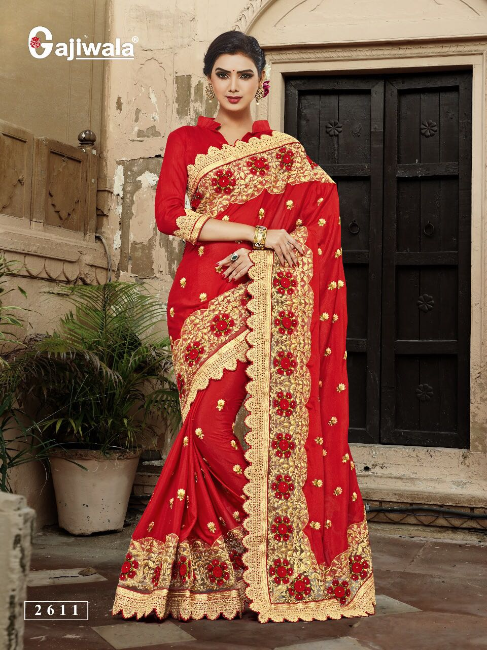 NITYANX » Gajiwala SAREES THE QUEEN 2611 To 2617 SERIES ...