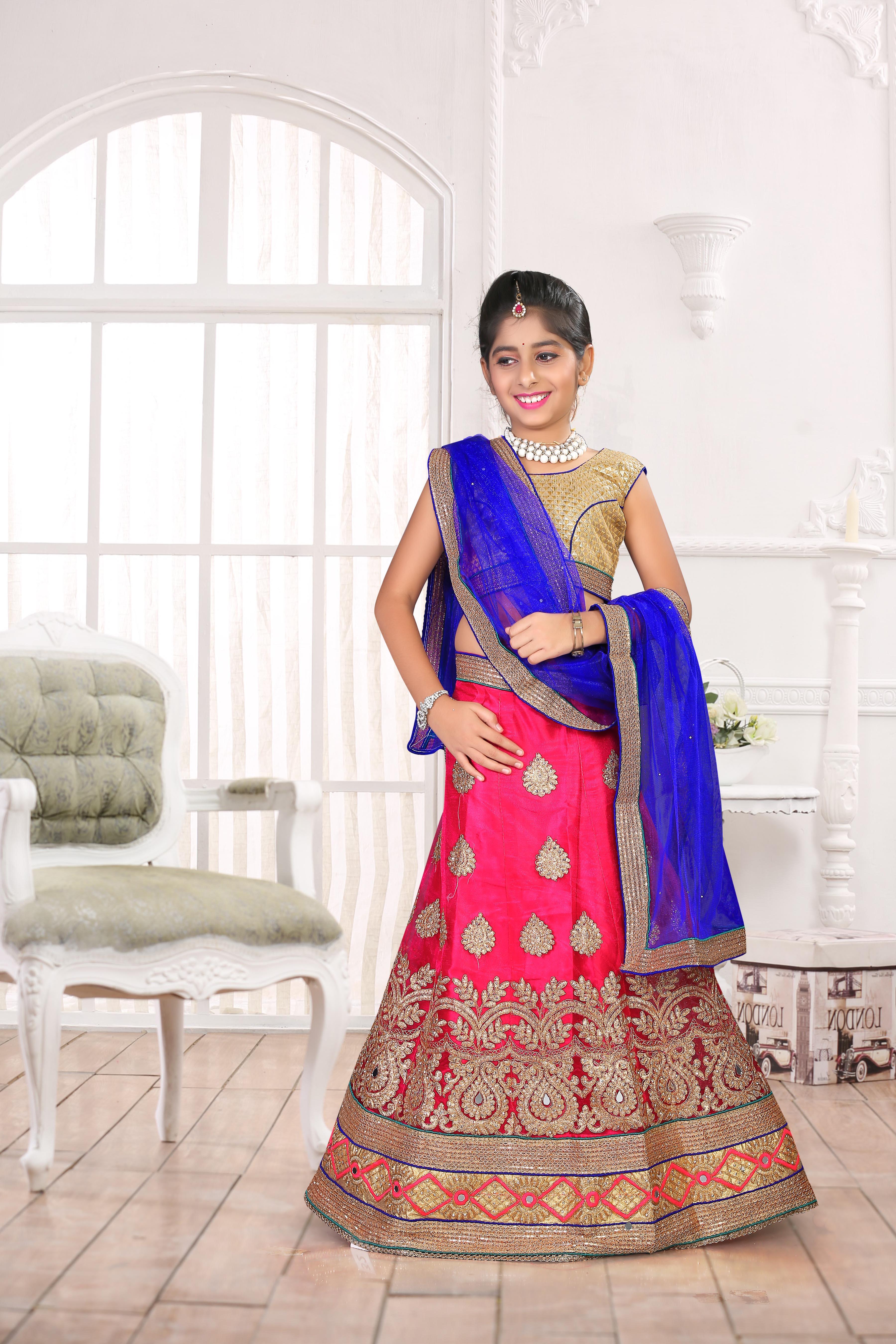 nityanx khushbu fashion fancy kids wear lehnga choli set and