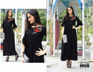 Your choice Bollywood 2805 TO 2810 SERIES FaNCY DESIGNER gown style RAYON Kurties (8)
