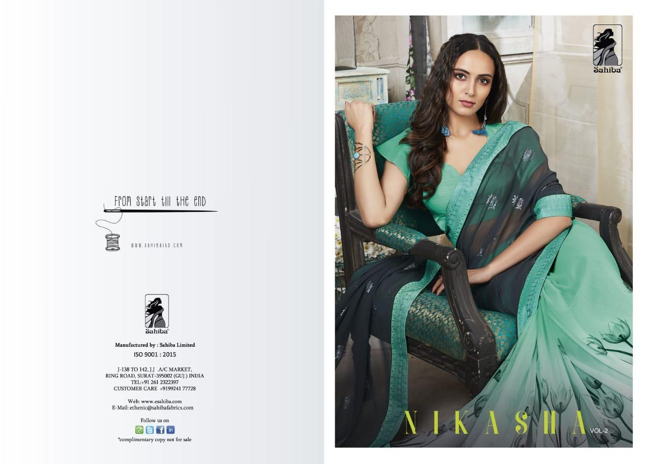 594358f0b Download Image Zip · Download PDF · Download Image Zip · Download PDF. Nikasha  vol 2 by sahiba 207 series fancy georgette printed saree collection ...