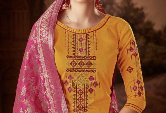 3b3973e3b4 Rihanaa banarasi by levisha 2613 series fancy pure jam silk salwar kameez  collection wholesale supplier and trader surat