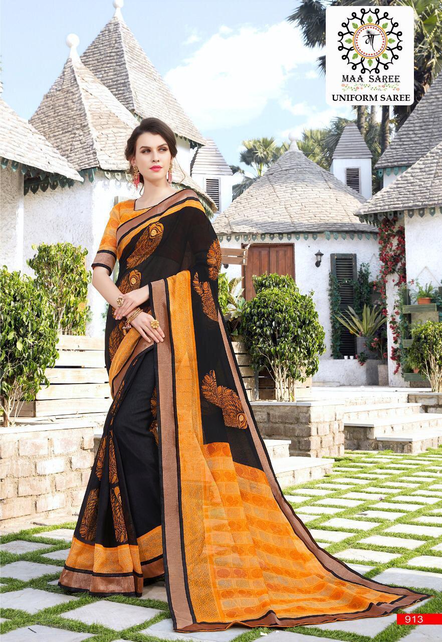 71431bd6d6 ... Jute silk printed uniform saree collection wholesaler surat on  +91-9898838984. Download Image Zip