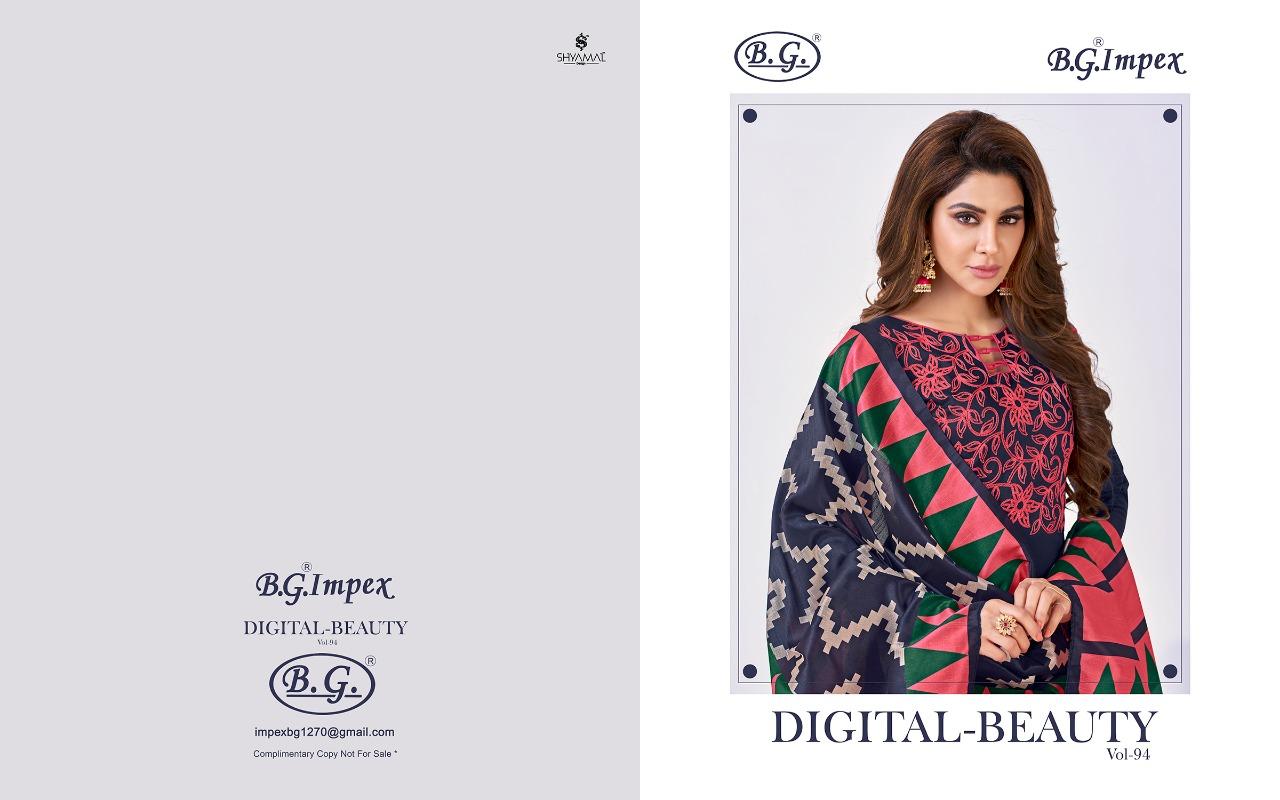 d033bd0986 Book Digital beauty by bg impex 94001 series Fancy soft cotton salwar kameez  catlog wholesale dealer surat on +91-9898838984. Download Image Zip