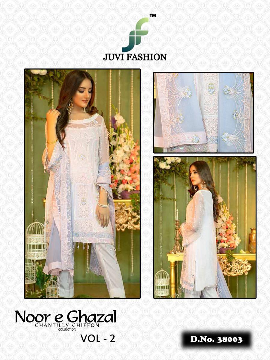 4eb48030fa Download Image Zip · Download PDF. Noor E ghazal vol 2 Chantilly chiffon  collection by juvi fashion Pakistani suits Wholesale supplier Gujarat
