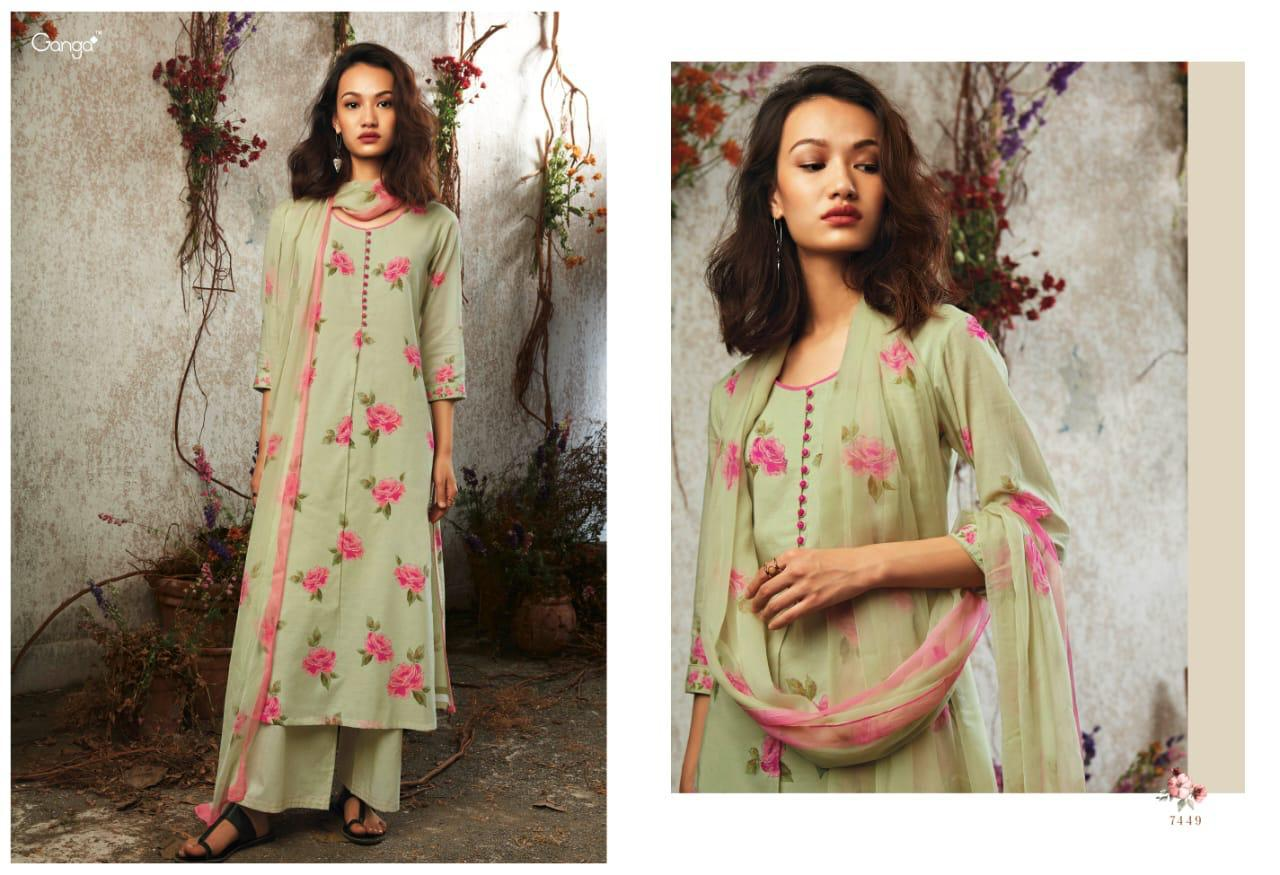 2bcebb8311 NITYANX » Sunkissed by ganga lawn cotton digital printed suits ...