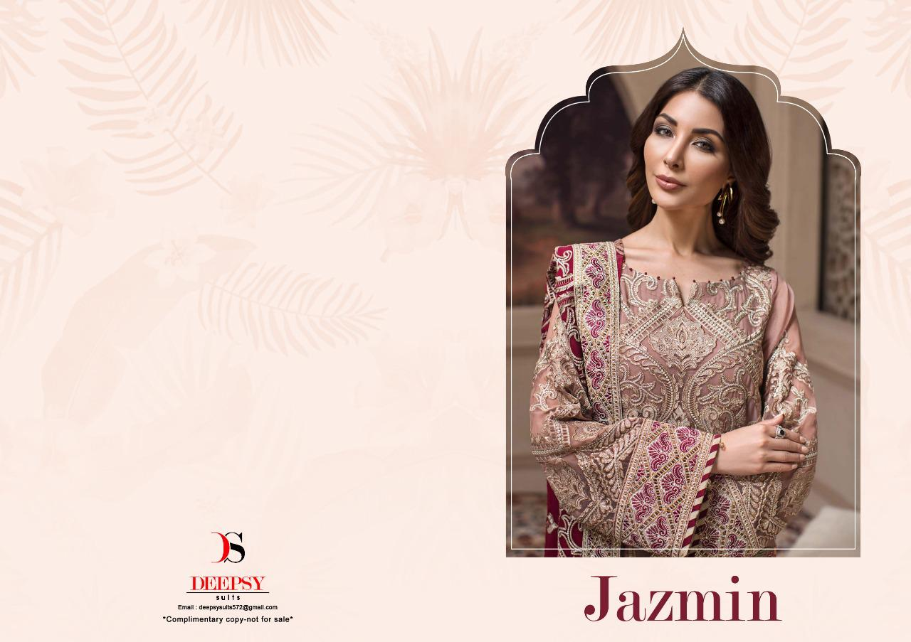 114d41e8e8 NITYANX » Jazmin by deepsy series 900401 to 900407 georgette embroidered  Designer Party wear Pakistani suits Wholesale supplier surat
